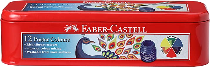 Faber-Castell Poster Color Tin Box - Pack of 12 (Assorted)