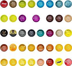 Nescafé Dolce Gusto Probierset - 39 verschiedene Kapseln, Kaffee, Kakao, Tee, Kaffeekapsel, 28 Portionen / Sorten
