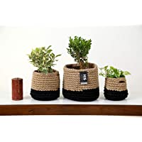 Home Decorz Store, Handmade Jute Planter, Beautiful Indoor Planter, Set of 3 - Small, Medium & Large