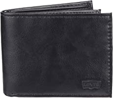 Levis 2019 Mens Wallet, Card Case & Money Organizer, Black, 14 31LV130033