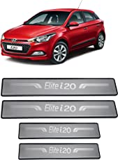 Autopop Stainless Steel Non-Led Footstep Door Sill Plate For Hyundai Elite I20
