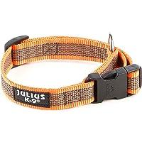 Julius-K9 Collare Color & Gray, 20 mm (27-42 cm), Arancio-Grigio