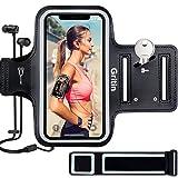 Gritin Fascia da Braccio, Sweatproof Fascia da Braccio Sportiva con Chiave e Riflettente Armband per iPhone SE(2020)/11/11 Pr