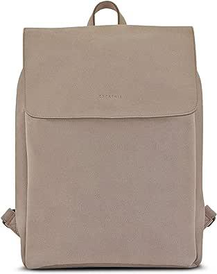 Expatrié Rucksack Damen Noelle Daypack aus veganem Leder - Hochwertiger Damenrucksack Tagesrucksack Klein aus robustem Kunstleder - Moderne 9 Liter Tasche mit Magnetverschluss