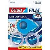 tesa Film mini roller roze, blauw of wit met 2 x Crystal Clear Rollen, 10M: 19mm