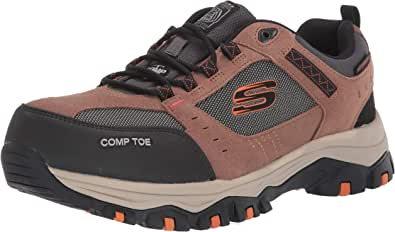 Skechers Men's Greetah Construction Shoe, BrownBlack, 7.5 M