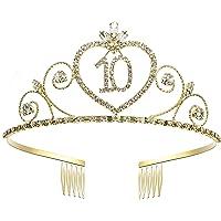 Coucoland Geburtstag Krone Herzformige Kristall Geburtstag Tiara Birthday Crown Blinkende Strass Prinzessin Haar-Zusätze Glücklicher 10/15/16/18/20/21/22/30/40/50/60/70/80/90 Geburtstag