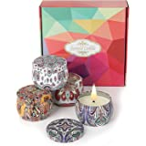 Orchid M Aromatherapy candle, 4 x 4.4 oz gift set, natural soy wax scented candle, smokeless relaxing and long-lasting fragra