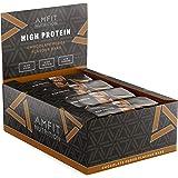 Marca Amazon - Amfit Nutrition Barrita de proteína baja en azúcar (19,6gr proteina - 0,8gr azúcar) - fondant de chocolate - P