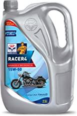 HP Lubricants Racer4 15W-50 API SL Engine Oil for Bikes (2.5 L)