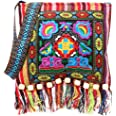 SimpleLife Clutch Handtasche, Cross Body Schultertasche mit Bestickt Design-chinesische Hmong Thai Stickerei Hill Tribe Totes