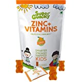 Super Gummy Zinc + Vitamin C Immunity Booster Gummies For Kids (30 Chewable Gummy Bears)