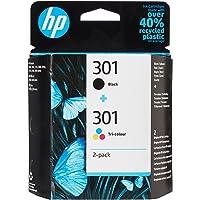 HP N9J72AE 301 Original-Tintenpatronen, schwarz und dreifarbig, 2er Pack.