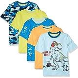 Amazon Essentials Short-Sleeve T-Shirts Fashion-t-Shirts Niños (Pack de 5)