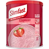 SlimFast Meal Shake, Strawberry Flavour, New Recipe, 12 Servings, Lose Weight and Keep It Off, Packaging May Vary