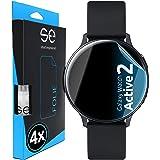 3D Skyddsfilm - Skärmskydd för Samsung Galaxy Watch Active 2 (44mm) [4 st | smart engineered] - Transparent, Skyddsfall vänli
