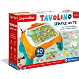 Clementoni - 13346 - Sapientino - Tavolino Sempre con Te, 40 attività, tavolo con giochi educativi, banchetto per scrivere e