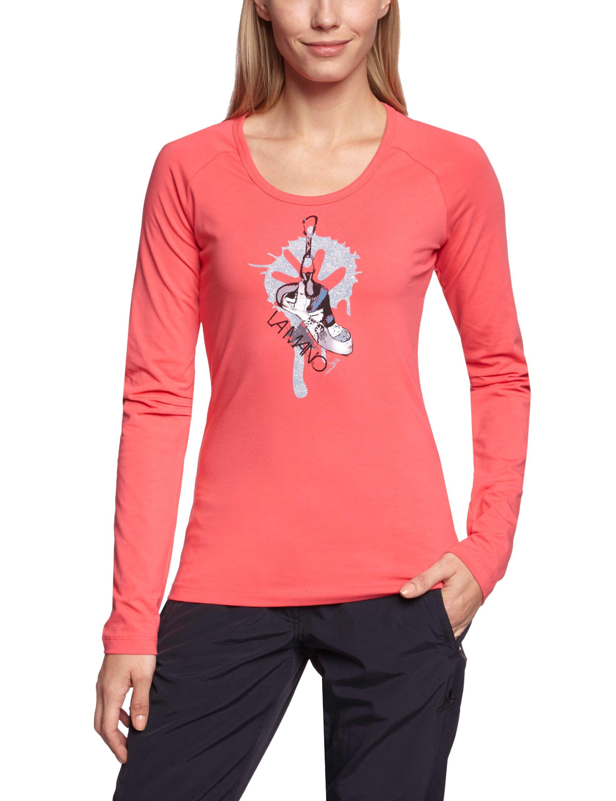 SALEWA, Maglietta a manica lunga Donna Chalk Up Co W Maglietta a maniche lunghe, Rosa (Pink Rose),