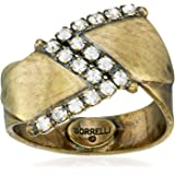 Sorrelli Lisa Oswald Collection Women's Points Of View Ring, Clear, 1