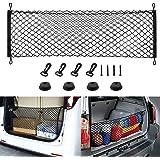 Rear Cargo Net Stretchable,Universal Adjustable Trunk Cargo Storage Organizer Compatible for SUV, Jeep, Truck,Storage Nylon M