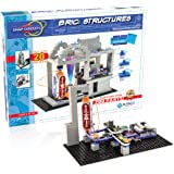 Snap Circuits SCBRIC1 Structures | Brick & Electronics Exploration Kit STEM & Brick Full Color Project Manual | 20 Parts | 75