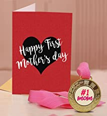 TIED RIBBONS Gift for Mothers Day | Mothers Day Gifts | Mothers Day Gifts from Daughter | Mothers Day Gifts from Son | Greeting Card with Golden Medal