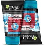 Garnier Skin Active - Pure Active, Gel Limpiador de Poros y Exfoliante Facial con Carbón 3 en 1 - Pack 2 unidades x 150 ml -