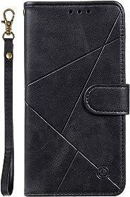 Lomogo Galaxy A10S Hülle Leder, Schutzhülle Brieftasche mit Kartenfach Klappbar Magnetisch Sto?fest Handyhülle Case für Samsu