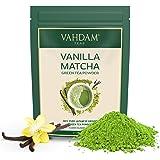 VAHDAM, té verde matcha de vainilla (50 porciones) | 100% PURE Matcha Tea Powder de origen japonés | 137x ANTIOXIDANTES | Té