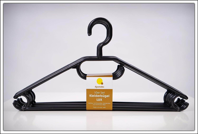 Kleiderbügel 50er Pack in schwarz - extra schwere Qualität (45g ...