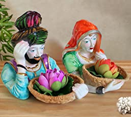 TIED RIBBONS Punjabi Couple Handicraft Collectibles Figurines Showpiece Statue Items for Drawing Room Living Room Office Bed Room Hall Home Decor and House Warming Gifts