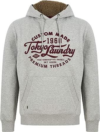 Tokyo Laundry Men's Logan Pullover Hoodie with Fleece Lined Hood