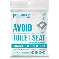 Peebuddy Disposable Toilet Seat Covers (20 Sheets) | No Direct Contact with Unhygienic Seats| Easy To Dispose| Nature…