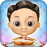 Restaurant bereitet Essen: Burger, Grillspieße, Eis und Getränke ! Lernspiel für Kinder und Mädchen