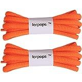 lorpops Lacci per scarpe da ginnastica ovali (2 coppie) 12 colori, 5 lunghezze, diametro 5/32 pollici(UK)