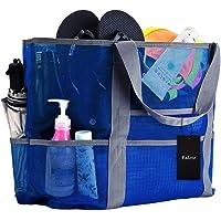 Faletony Sac de plage XXL en maille filet pour jouets de sable, sac de plage en maille filet pour la famille, sac de…