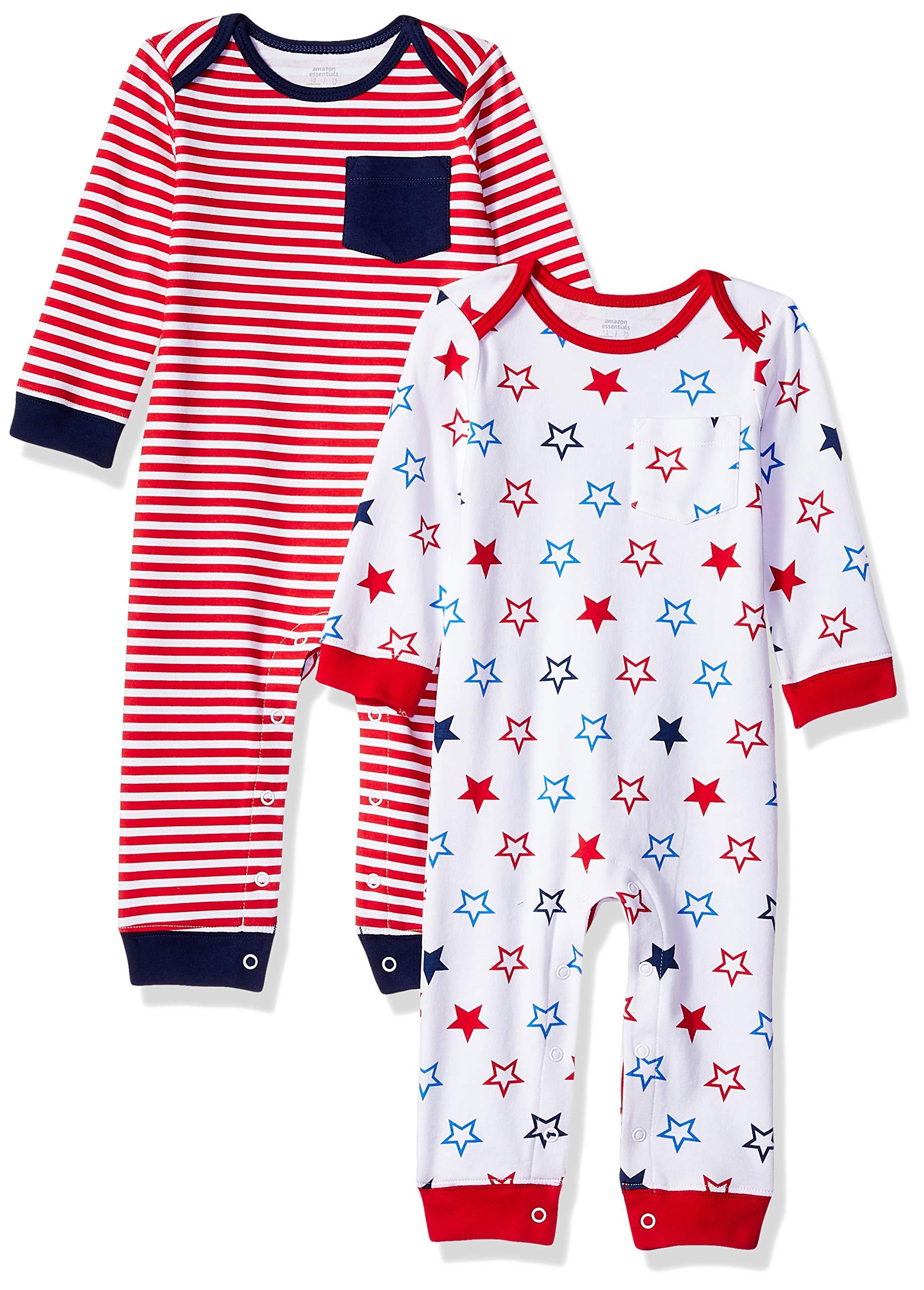 Amazon Essentials - Pack de 2 peleles para bebé 1