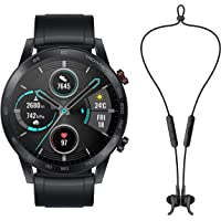 Honor Magic Watch 2 (46mm, Black Fluoroelastomer Strap) + Wireless Headsets