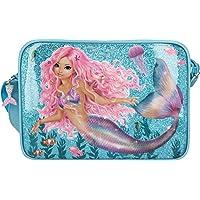 Depesche 11047 TOPModel Fantasy - Umhängetasche im Mermaid Design, mit Reißverschluss und längenverstellbarem Tragegurt…