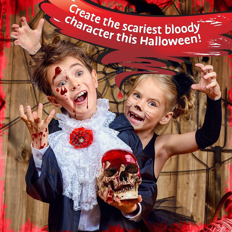 THE TWIDDLERS 10er Packung Halloween Falsches Blut Tuben, Massive 300 Gramm Packung! - Perfektes Halloween Kostüm…