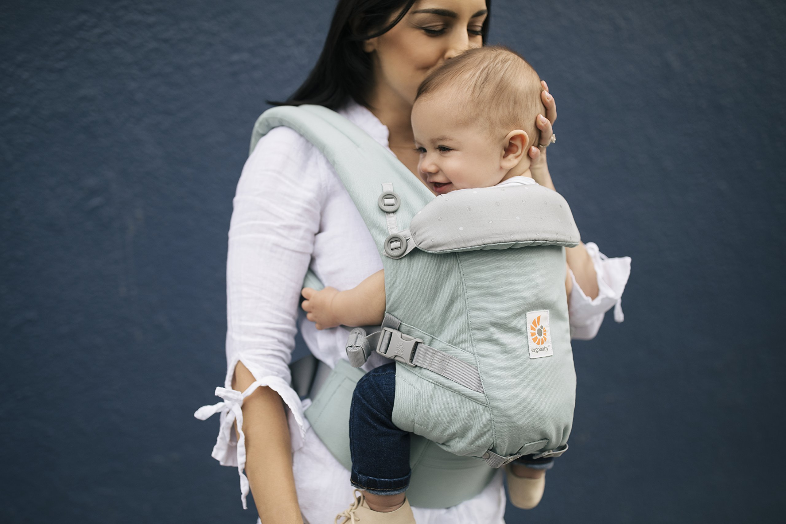 Ergobaby Baby Carrier for Newborn to Toddler up to 20kg, Adapt Frosted Mint 3-Position Ergonomic Child Carriers Front Backpack Ergobaby  3