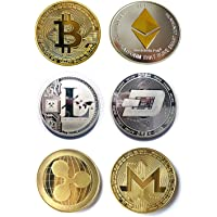 antifiction Cryptocurrencies You Hold Collectible Physical Bitcoin BTC Board Game Token Poker Chips Challenge Coin Art Deluxe Round Medallion Novelty Gift + Plastic Display Shell (One Each)