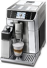 De'Longhi PrimaDonna Elite ECAM 656.55.MS Kaffeevollautomat , Farbdisplay , 8 Sensortouch Direktwahltasten , Integriertes Milchsystem , APP Steuerung , Edelstahlfront , 2-Tassen-Funktion , Silber