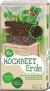 Dunkelbraun Pflanzen K/ölle Hochbeet mit Ablage 40 x 80,5 x 78,5 cm