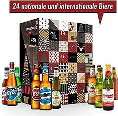 Bier Adventskalender mit 24 außergewöhnlichen Bieren aus aller Welt | Bierkalender als Geschenk für Männer I Weihnachtskalender für Väter | Bierweltreise | Biere aus verschiedenen Ländern trinken | neue Biere probieren | besondere Bierselektion | privates Biertasting | perfekt für Bierliebhaber