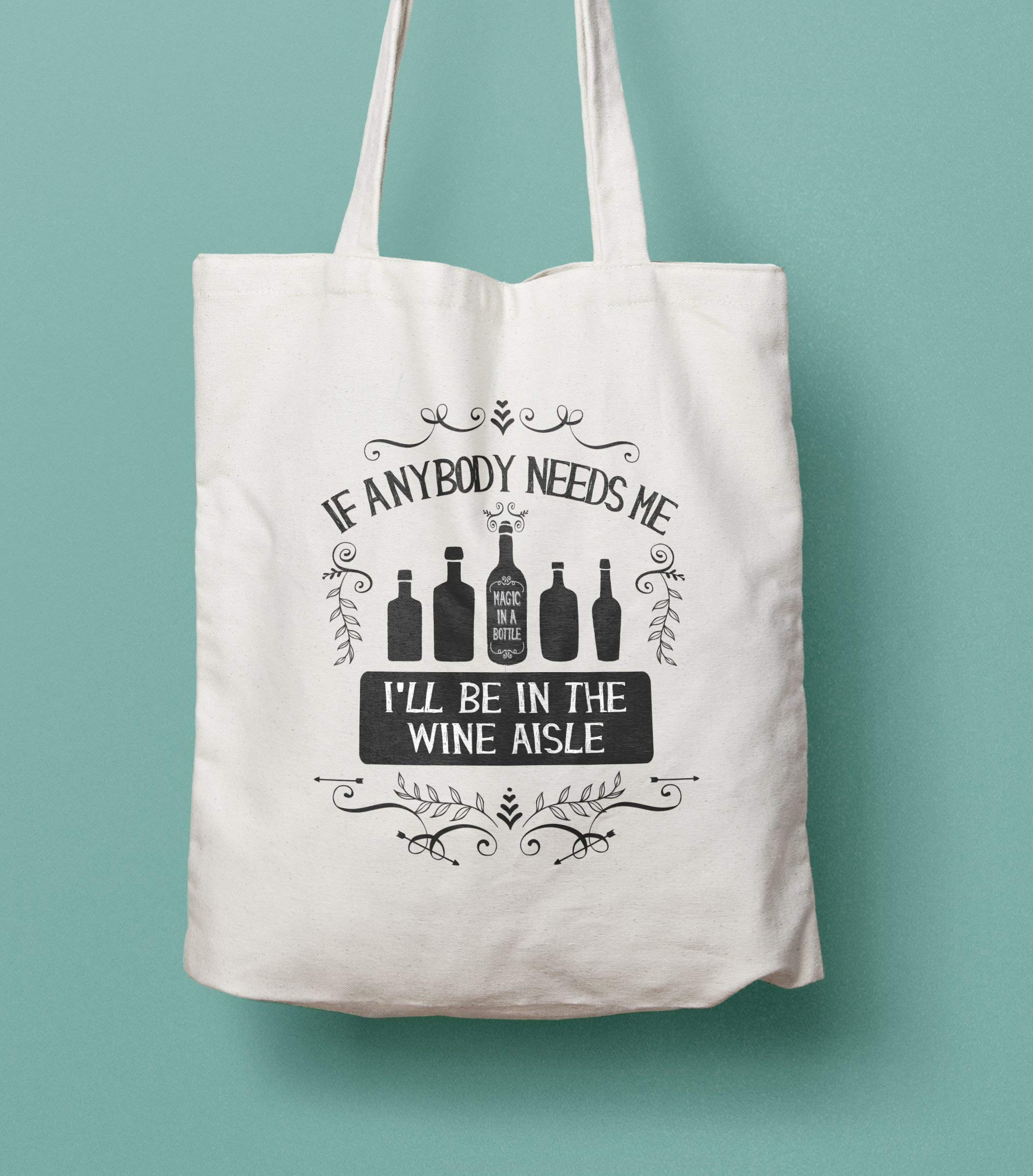 Funny Wine Lovers Gift Cotton tote bag - handmade-bags
