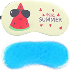 Jenna™ Mellon CreamCartoon Polyester Ice Gel Eye Mask for Insomnia, Meditation, Puffy Eyes and Dark Circles
