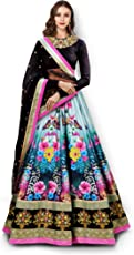 Zeel Clothing Women's Velvet Silk Lehenga Choli (7005-ZC_Black_Free Size)