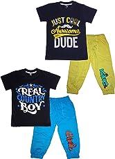 T2F Boys' T-Shirt and Pyjama Set