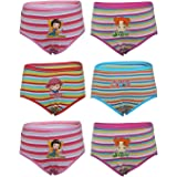 BODYCARE Girls' Cotton Panties (Pack of 6)